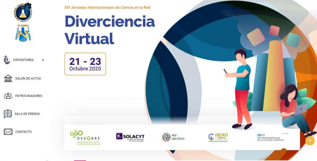 Diverciencia virtual página web 2020